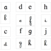 Lettres scripte-cursive
