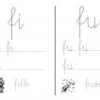 Ecriture, lecture syllabes