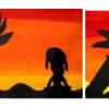 Silhouette au coucher de soleil