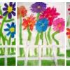 Fleurs derrière la barrière