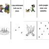 Domino lire des phrases et mots lettres mélangées