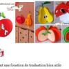 Fruits, champignons 3D (automne)