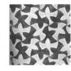 Coloriages pavages «style M. C. Escher»
