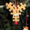 Avec des pièces de puzzle (Noël)