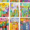 Châteaux à la manière de Paul Klee