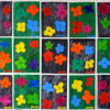 Fleurs à la manière d'Andy Warhol