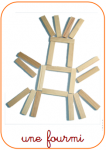 Kapla (280 planchettes + livre)  Kapla  Jeux de construction