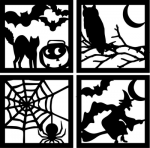 Four+Sided+Halloween+Silhouette+Squares