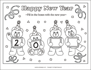 Coloriages bonne ann e for Happy new year coloring pages 2016