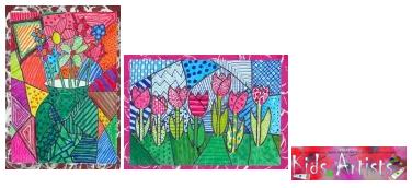 Coloriage Fleur Britto.A La Maniere De Romero Britto