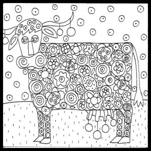 coloriage-blooming-cow