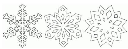 Flocons pochoirs gabarits - Dessin flocon de neige simple ...