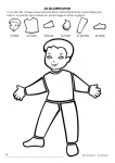 Le corps humain 5 sens - Coloriage corps humain maternelle ...