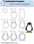 Comment dessiner un pingouin - Apprendre a dessiner un pingouin ...