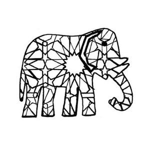 Arts visuels coloriages - Elephant indien dessin ...