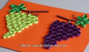 bricolage-raisin-en-papier-grappes-en-quilling