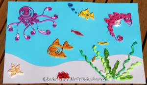 quilling-sous-marin-poisson-pieuvre
