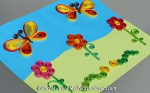 tableau-quilling-fleurs-et-papillons