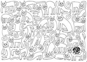 Larie+Cook+katten+kleurplaat