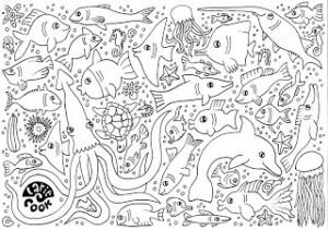 Larie+Cook+vissen+kleurplaat