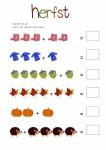 herfst tellen en opschrijven