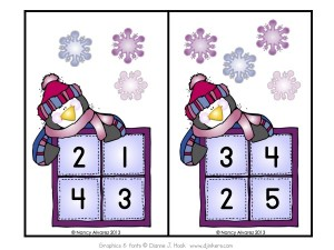 WinterSnowflakeCountandClipActivityCards
