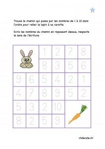 Labyrinthes de nombres, vu chez CHD