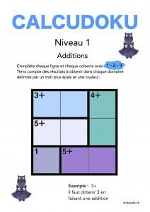 Calcudoku 1-3C