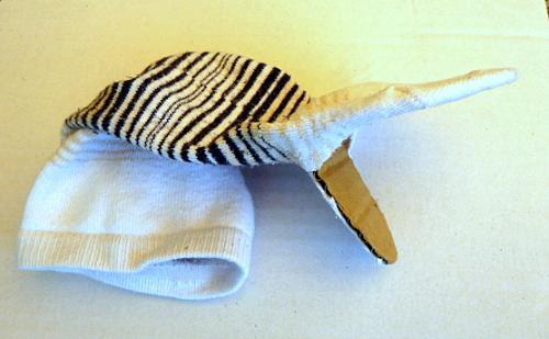 basteln-Sockentier-mit-Pappe-Seitenansicht