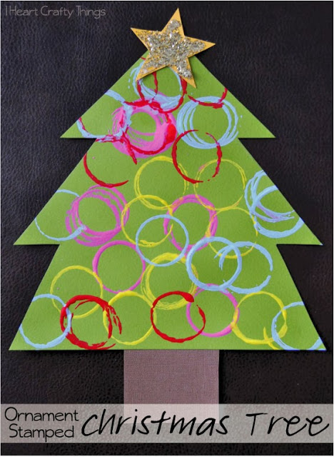 Ornament Stamped Christmas Tree Craft