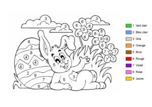 Coloriage De Paques Avec Prenom.Coloriages Codes Paques
